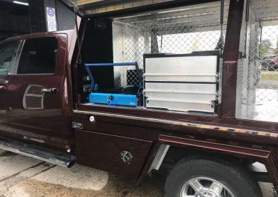 Dodge Ram with drawers and fridge slide