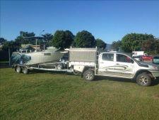 Finished 6m custom boat on trailer