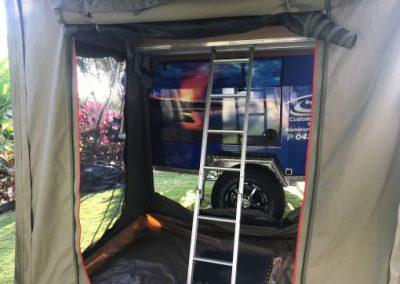 ladder to camper
