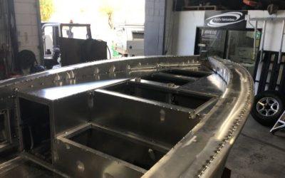Custom plate boat progress